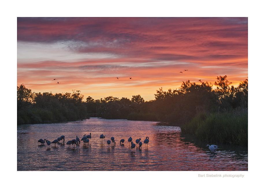 Klassieke zonsondergang, zoals we daar vaak meemaken. Foto: Bart Siebelink