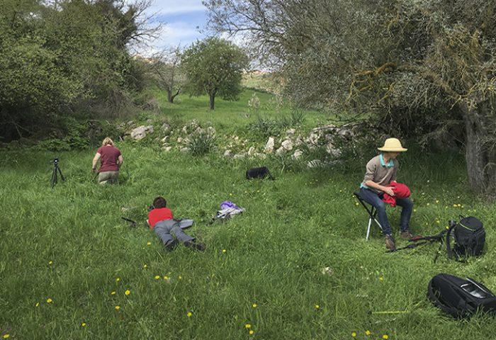 Heerlijk bezig in het pastorale landschap